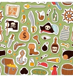 Pirate pattern background vector
