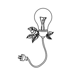 normal save bulbs with power cable icon vector image