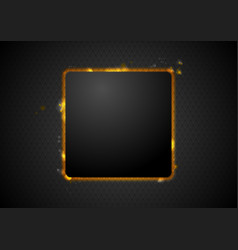 Abstract glowing fire square background vector