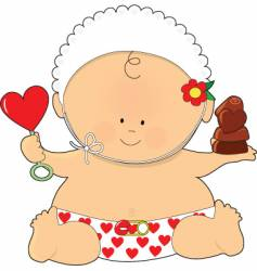baby valentine vector image