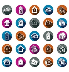 Houses abstract icons can be used in advertising vector