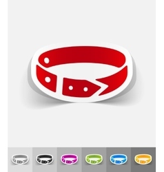 Realistic design element dog-collar vector