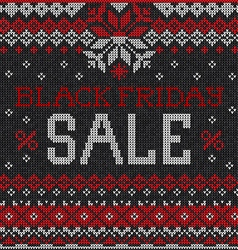 Black friday sale scandinavian or russian style vector