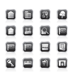 Simple real estate icons vector