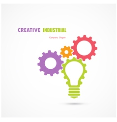 Abstract industrial logo design vector
