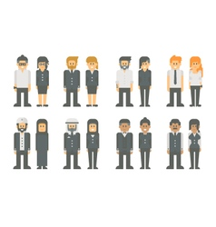 Flat design business worker set vector image