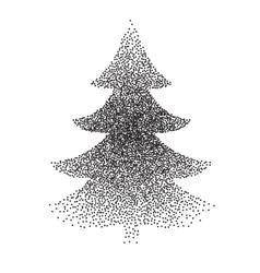 Abstract polka-dot stipple christmas vector