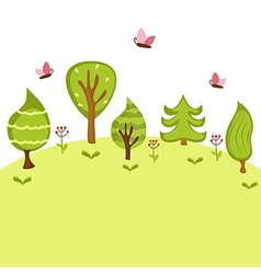 Summer forest background vector