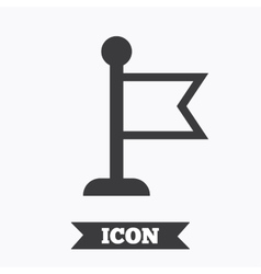 Flag pointer sign icon marker symbol vector