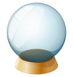 A transparent dome vector