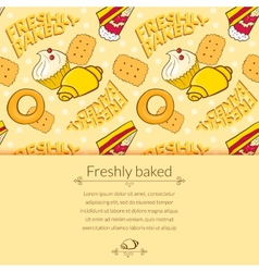 Bakery beautiful holiday background vector image