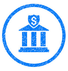 Bank rounded grainy icon vector