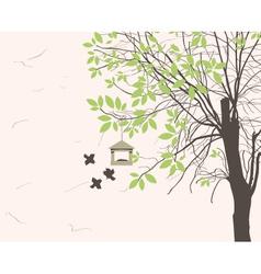 bird feeders vector image