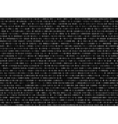 Blink binary code screen black vector image vector image