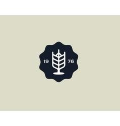 Brewery logotype Beer logo design template Pub vector image vector image