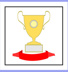 Cup and ribbon reward vector