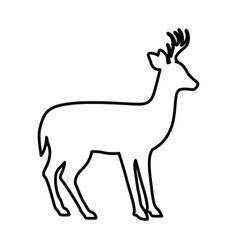 Deer livestock animal design vector