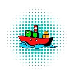 Dry cargo comics icon vector