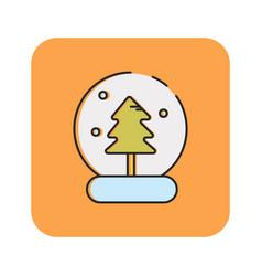Flat color snow globe icon vector