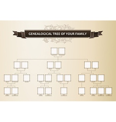 Genealogical tree of your family vector