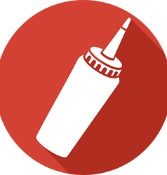 Ketchup Bottle Icon vector image vector image