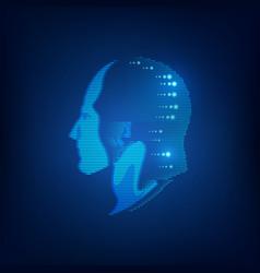 light head vector image vector image