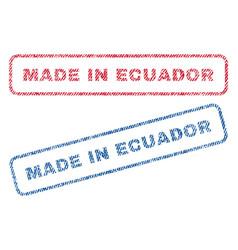 Made in ecuador textile stamps vector