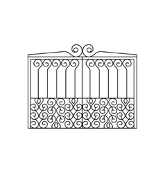 Metal lattice fencing design vector