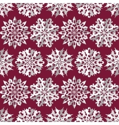 Origami snowflake seamless pattern christmas new vector
