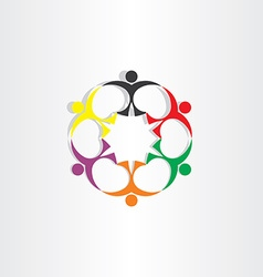 People teamwork team concept icon sign vector