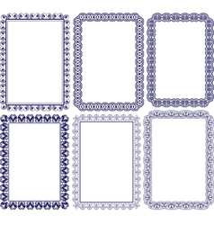 rectangular frame with embellishments vector image vector image