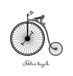 Retro Style Bicycle vector image