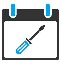 Screwdriver tuning calendar day toolbar vector