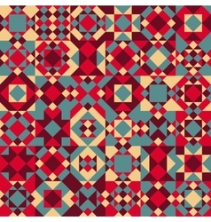 Seamless Geometric Blocks Quilt Pattern vector image