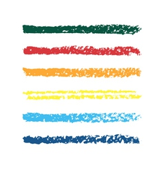 Set of colored pencil strips vector image