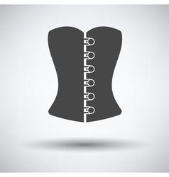 Sexy corset icon vector image
