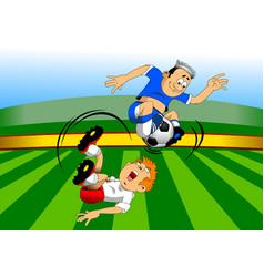 soccer super acrobat vector image