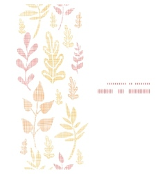 Textile textured fall leaves vertical frame vector