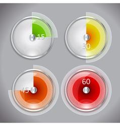 Time icon set vector