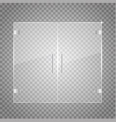 transparent glass door vector image