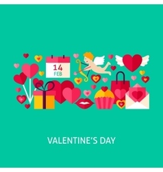 Valentines day greeting poster vector