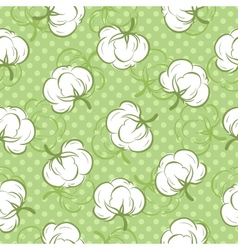 Seamless pattern with cotton buds vector image