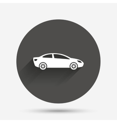 Car sign icon sedan saloon symbol vector