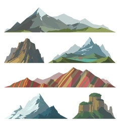 Different mountain vector