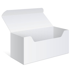Realistic white Package Box For Software device vector image
