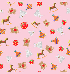 Seamless pattern toys for girls vector