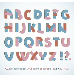 Colored alphabet vector
