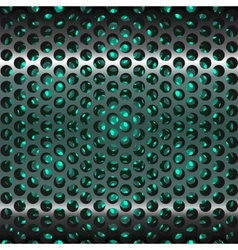 Mesh metal grate as background Grill vector image