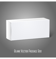 Realistic white blank paper package box isolated vector
