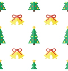 Christmas background in flat style vector